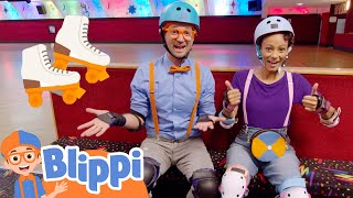 Blippi and Meekah Leąrn to Roller Skate! | Fun and Educational Videos for Kids