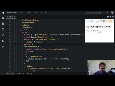 Creating an autocomplete component with downshift 🏎