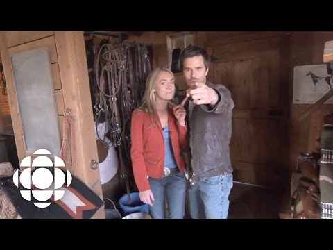 Heartland Set Tour With Amber Marshall And Graham Wardle | Heartland | CBC