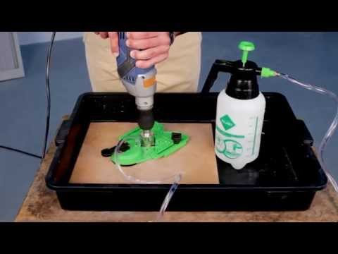 How to make the hole for the shower water supply drilling porcelain tiles.