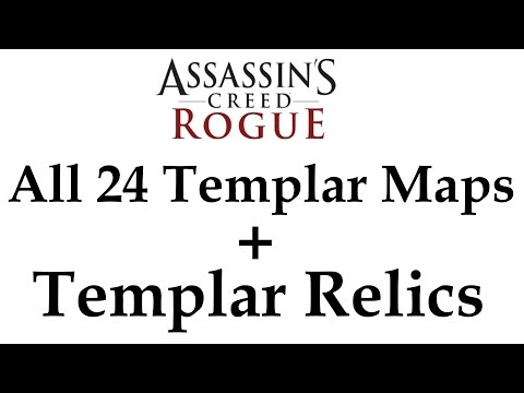 """Assassin's Creed: Rogue"" All 24 Templar Maps + Artifact Grave locations with Templar Relics"