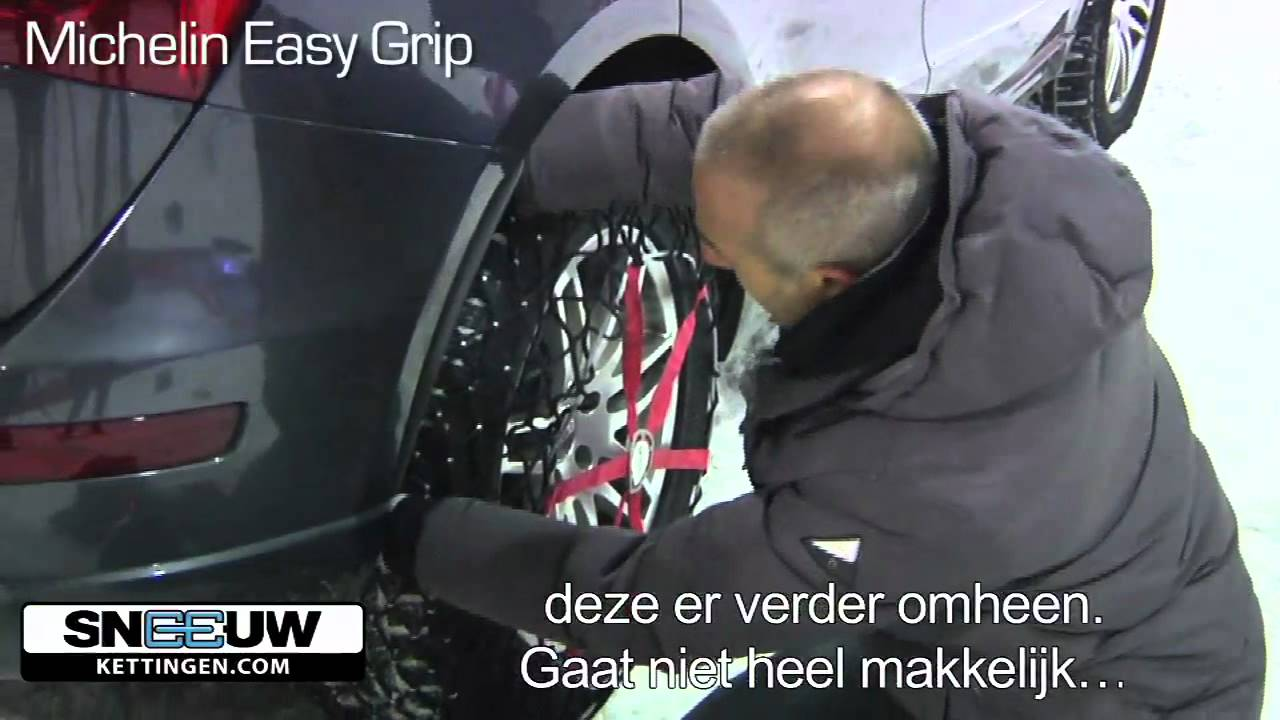 michelin easy grip nieuwe generatie sneeuwkettingen van gevlochten kunststof youtube. Black Bedroom Furniture Sets. Home Design Ideas