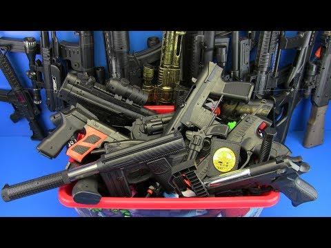 Box of Toys !!! Guns Toys Video for kids