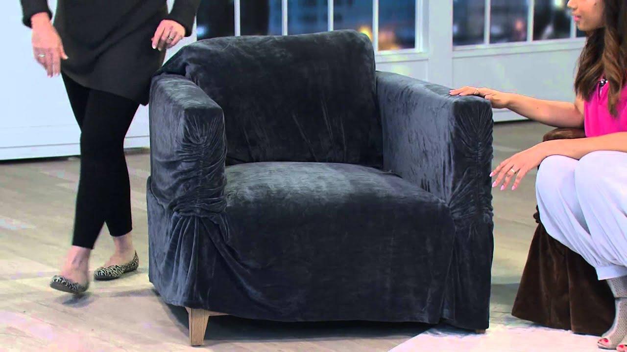 Sure Fit Stretch Plush Sofa Furniture Cover with Gabrielle Kerr
