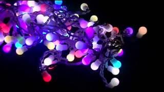 видео Светодиодная гирлянда шарики, гирлянды шарики купить