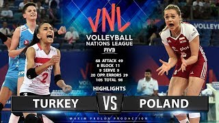 Turkey vs Poland | Highlights | Women's VNL 2019