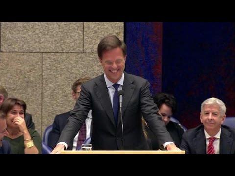 Lachsalvo Rutte om discussie over Gouden Draeck - RTL NIEUWS