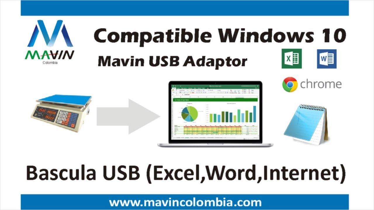 Bascula Balanza USB Excel,Word, RS232