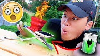 THIS INSTANTLY CHARGES YOUR IPHONE!!! (CRAZY FIRE TRICKS)