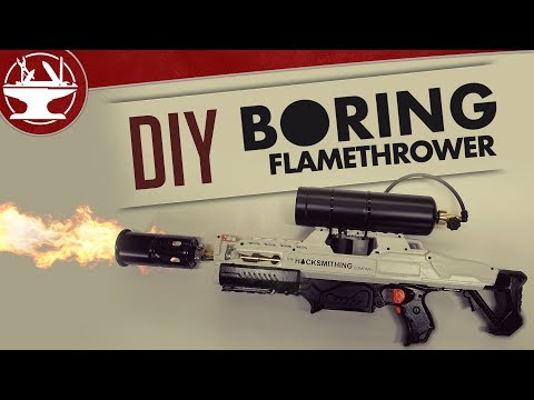How to make a flamethrower gun at home