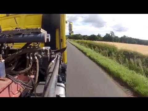 MAN F90 V10 engine sound straight though exhaust pipes road drive 19.502 tractor unit LKW HGV Camion