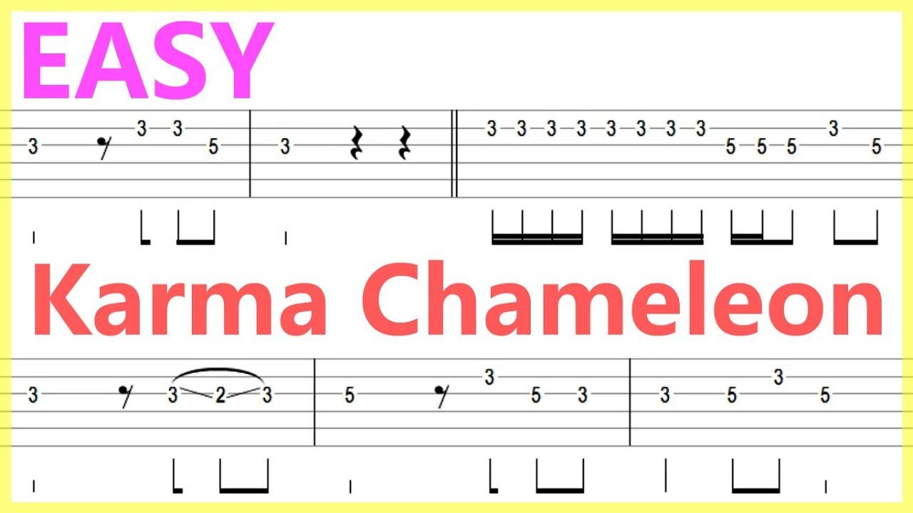 Culture Club   Karma Chameleon Guitar Solo Tab+BackingTrack
