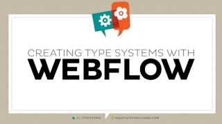 Creating a Type System with Webflow | Step One: Creating a New Site
