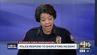 PHX Police Chief responds to shoplifting incident