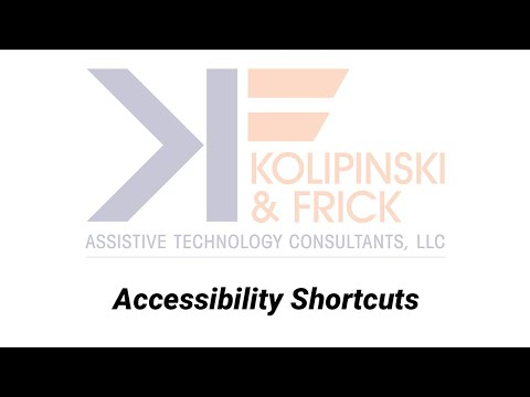 The Power of the iPad as Theraputic Tool - Accessibility Shortcut