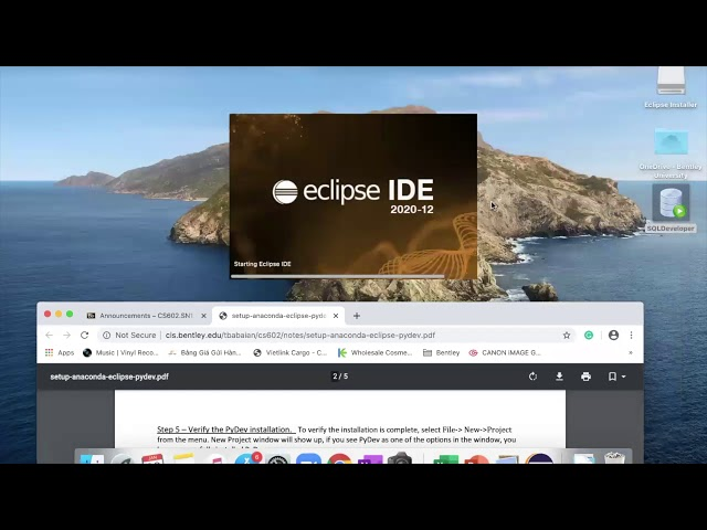 Configuring Eclipse for Python in CS 602