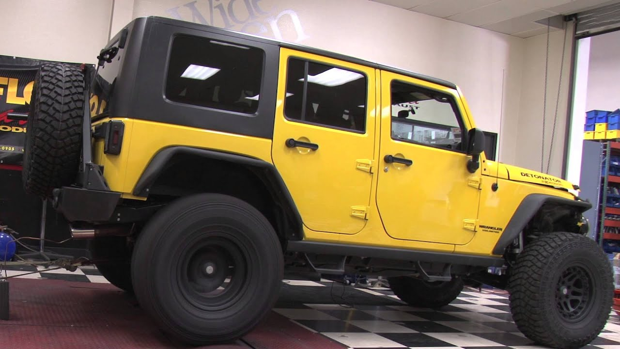 Jeep Wrangler Build >> 2010 Jeep Wrangler Rubicon - Custom Built MagnaFlow System Dyno Testing - YouTube