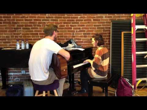 Sóley and Patrick Dethlefs at a Rehearsal for Reykjavik Calling in Denver