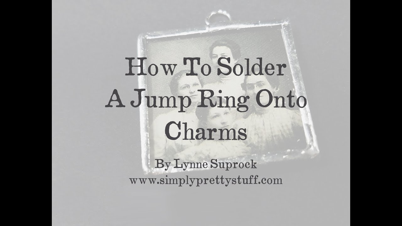 How to solder a jump ring onto a charm youtube how to solder a jump ring onto a charm aloadofball Images