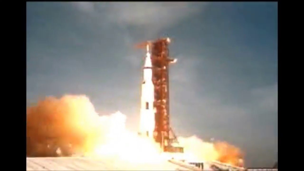 Apollo 11 Liftoff Launch July 16 1969 for Moon Landing in ...