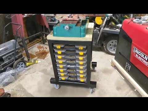 Harbor Freight / Grizzly End Mill,Drill Press Stand with built in Sortimo, Part 2