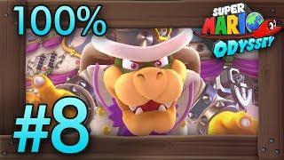 Super Mario Odyssey 100% Walkthrough Part 8 | Cloud & Lost Kingdom (All Moons & Coins)