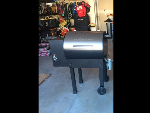 Traeger Pellet Grill Set Up And Cooking On Grill Doovi