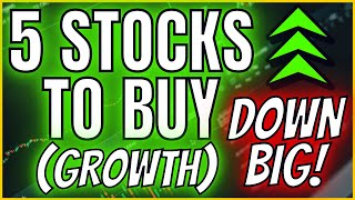🔥📈 TOP 5 GRΟWTH STOCKS TO BUY [DOWN 30%] // Technical Analysis on Growth Stocks