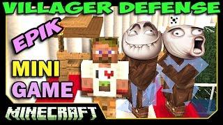 Защитник Упоротых торговцев - Villager Defense Minecraft