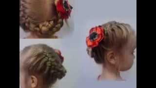 Прически легкая из косичек для маленькой девочки в детский сад