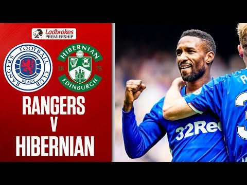 Rangers 1-0 Hibernian   Defoe Fires Ten-Man Rangers to Fifth Straight Win   Ladbrokes Premiership