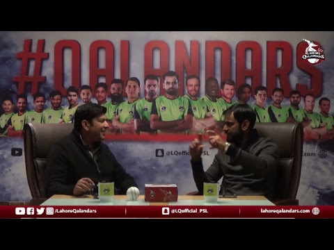 Live discussion with our #CaptainQalandar Mohammad Hafeez