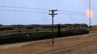 Here is an HO scale Walthers Proto 2000 E7s pulling Walthers NYC 20...