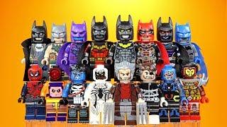 Killmonger Batman Punisher Anti-Venom Wolverine Spider- Pool Nick Fury Unofficial LEGO Minifigures