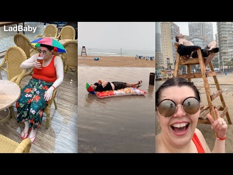 When Mum & Dad pretend it's sunny...in Benidorm ☀🌧 thumbnail