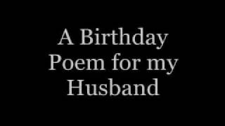 A Birthday Poem for my Husband