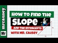 Algebra How to Find Slope, Y Intercept and Graph a Line
