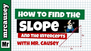 How to Find Slope, Y-Intercept and Graph a Line