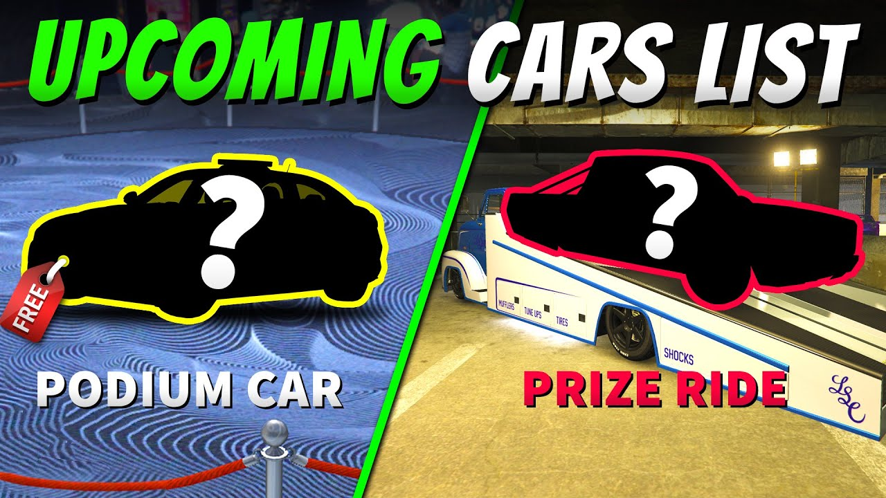 UPCOMING PRIZE RIDE VEHICLES and Lucky Wheel PODIUM CARS LIST in GTA 5 Online