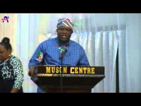 AKINWUNMI AMBODE AT AN INTERACTIVE SESSION WITH COSMOPOLITAN WOMEN'S CLUB
