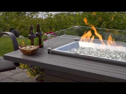 Outdoor Fireplace Tables. Brooks Fire Table  The Outdoor GreatRoom Company YouTube