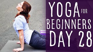 30 Minute Yoga For Beginners 30 Day Challenge Day 28 with Fightmaster Yoga