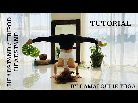 headstand tripod headstand tutorial  lamaloulie yoga