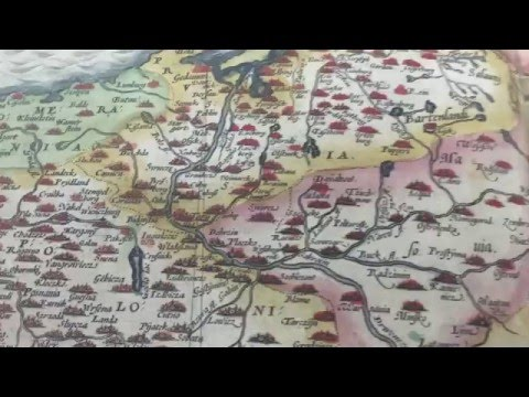 A historical illustrated map of Poland