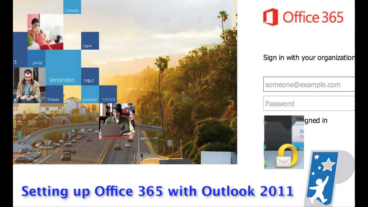 3 Setting Up Outlook 2011 Mail 365 Youtube