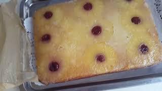 "1.Пирог ""Перевертыш с ананасами""!2.Пирог ""Перевертыш с ананасами""ПП!Вкусно,быстро,красиво!"