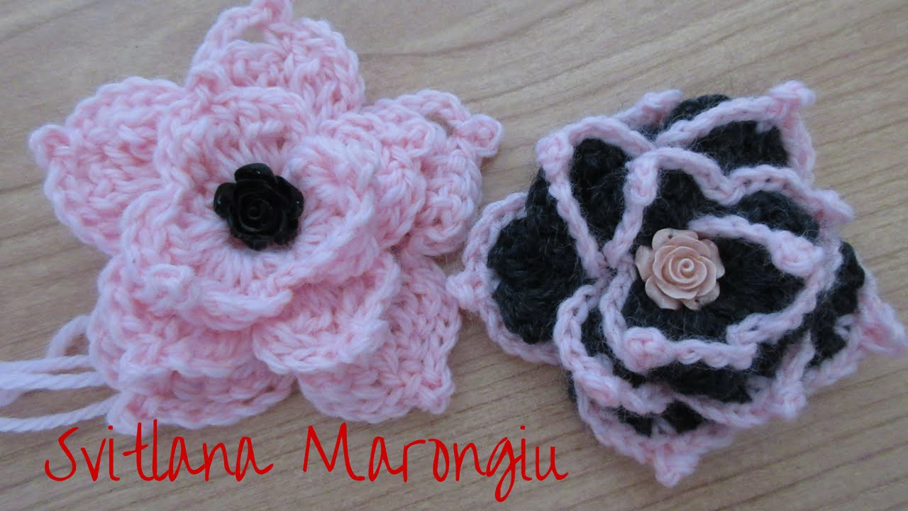 Tutorial Fiore Decorativo Alluncinetto How To Crochet A Flower