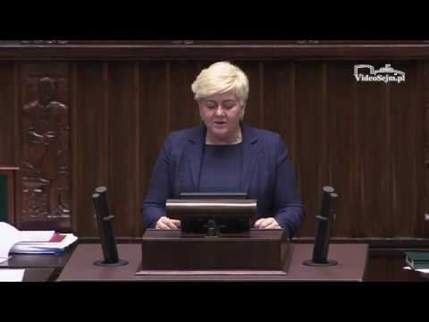 Małgorzata Pępek – wystąpienie z 10 stycznia 2018 r.