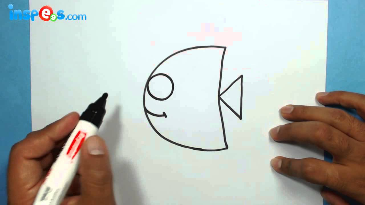 How To Draw A Cute Fish From Alphabet C Youtube