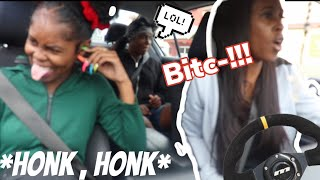 Honk At Us Prank on My Ghetto Mom *Gone Wrong*